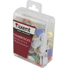 Кнопки гвоздики  Axent 50шт  цветные № 4214