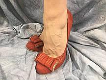 Туфли женские из эко-замша RED DO5-1 кирпичные 35-40 ОПТ