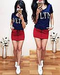 """Женский стильный костюм в стиле """"VLTN"""" (в расцветках), фото 4"""