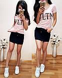 """Женский стильный костюм в стиле """"VLTN"""" (в расцветках), фото 5"""