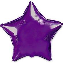 """Фольгированный шар звезда фиолетовый 18"""" Flexmatel"""
