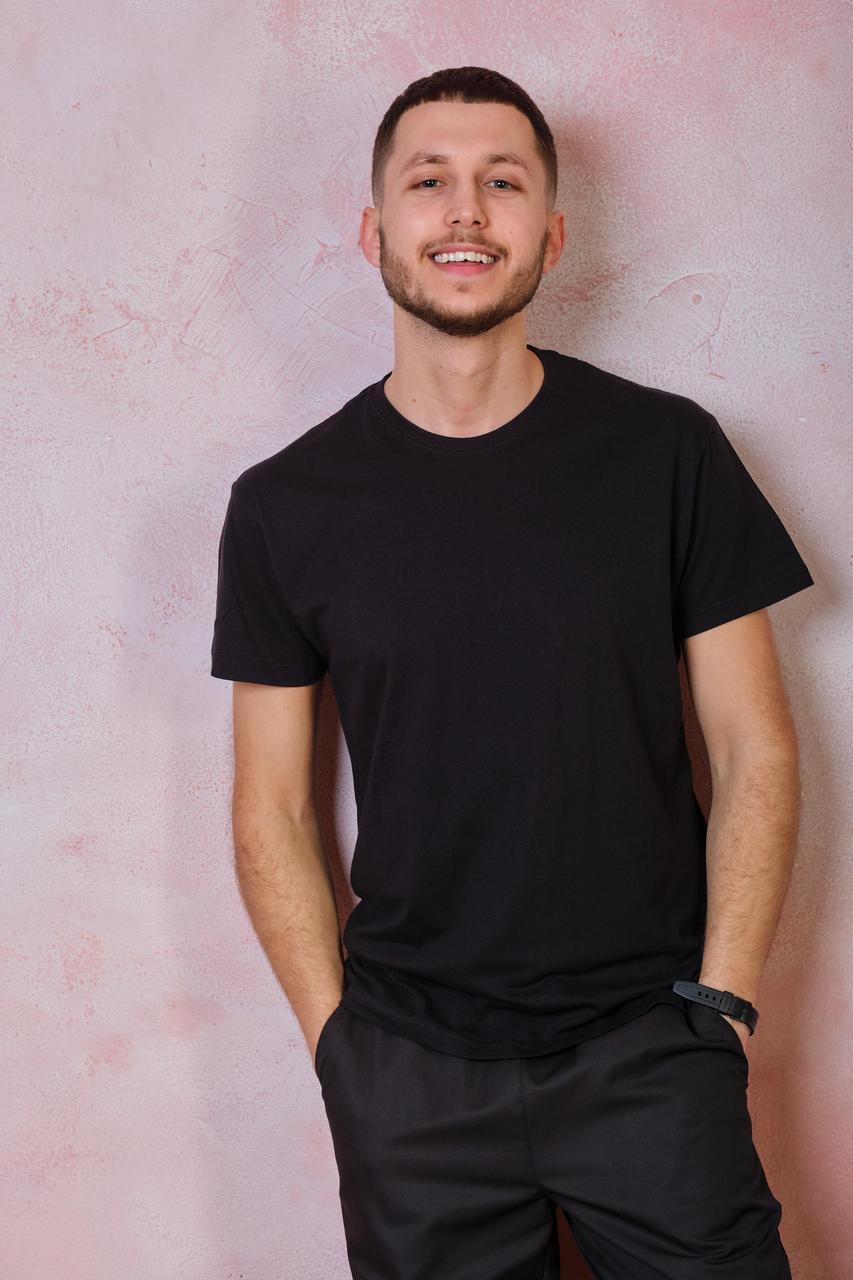 Мужская эластичная футболка JHK SPORT T-SHIRT цвет черный (BK)
