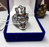 Срібна печатка з золотом Король Лев, фото 5