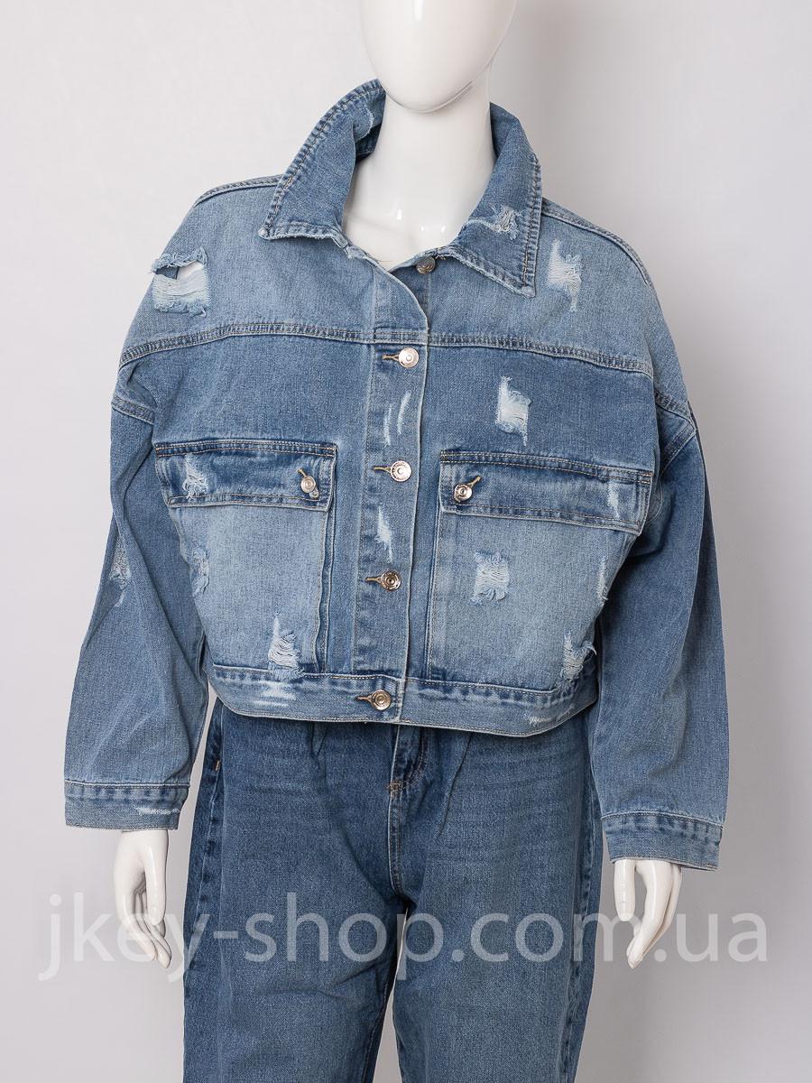 Куртка джинсовая женская ALTAMIRA DG-F05 DENIM L BLUE
