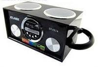Радио приемник колонка Atlanfa At-8974 LED дисплей Пульт ДУ+эквалайзер