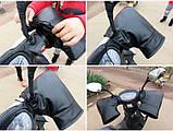 Зимние перчатки-чехлы на руль велосипеда, мотоцыкла, мопеда, ветрозащитные, снегозащитные Eco-obogrev P-moto, фото 3