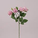 Роза ветка, бутон 5 шт, светло-фиолетовый, Искусственный цветок, Днепр, фото 2