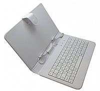 Чехол клавиатура для ПК планшета 7 micro USB White