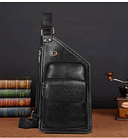 Сумка-рюкзак на одно плечо, кобура, слинг Jeep Buluo. Черная / J 601 black, фото 1