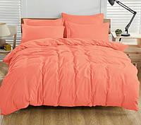 Двуспальный комплект. Коралловое постельное постельное белье Простыня на резинке