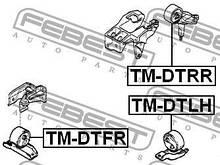 Подушка двигателя левая TOYOTA DUET (M11_, M10_) 1998-2004 г.