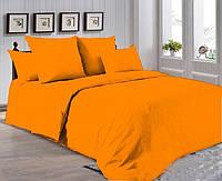 Двуспальный комплект. Оранжевое постельное постельное белье Простыня на резинке