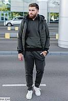 Мужской спортивный костюм ,спортивный костюм с жилеткой,мужской теплый спортивный костюм