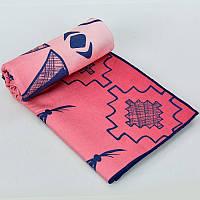 Полотенце для йоги YOGA TOWEL, полиэстер, р-р 75х186см., красный (Y-YGT-(rd))
