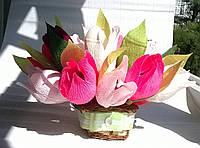 """Композиция букет цветы из конфет  """"Тюльпановая радость"""""""