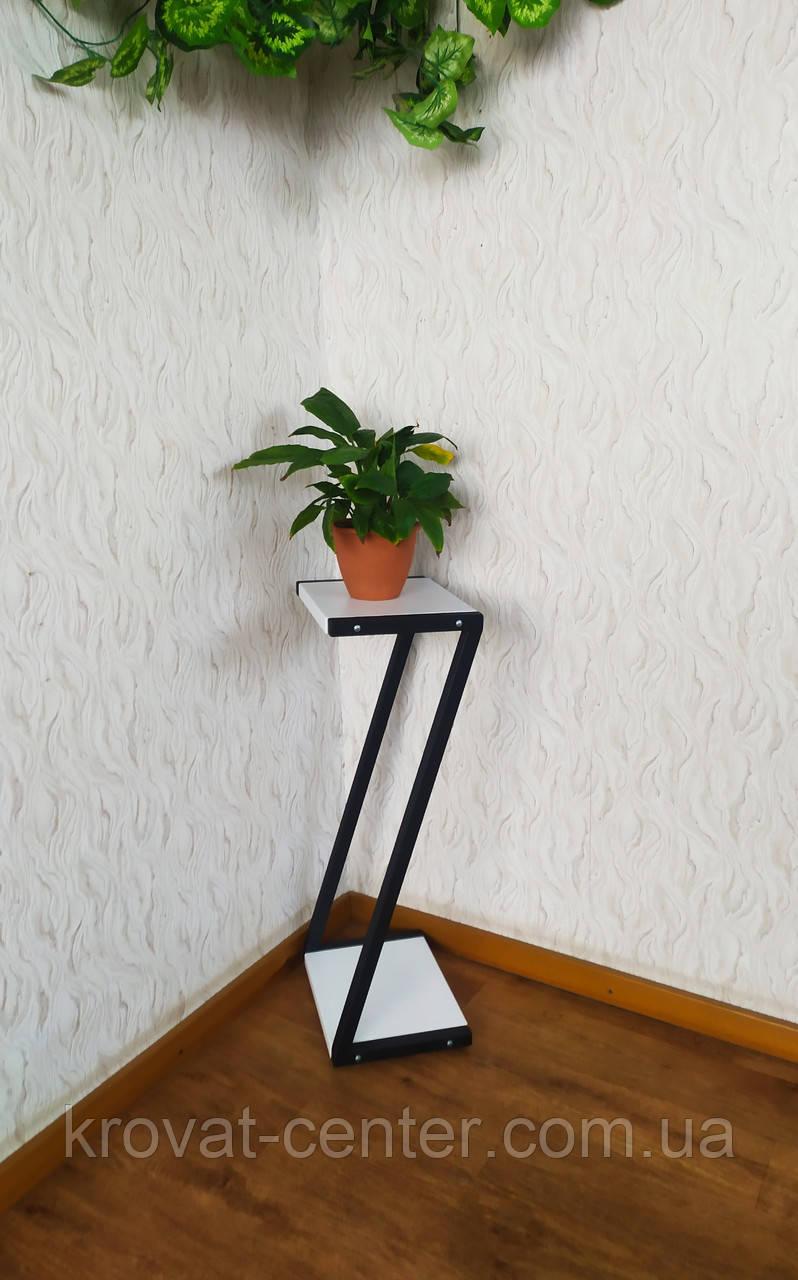 Белая стойка под цветы и декор в стиле Loft 760 (Z)
