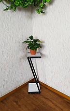 Белая стойка под цветы и декор в стиле Loft 760 (Z), фото 3