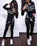 """Женский стильный спортивный костюм весна/очень """"Gucci"""" (расцветки), фото 2"""