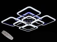Потолочная люстра с диммером и LED подсветкой, цвет чёрный хром, 150W, фото 1