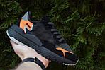 Женские кроссовки Adidas Nite Jogger (черно-оранжевые) 2954, фото 6