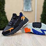 Женские кроссовки Adidas Nite Jogger (черно-оранжевые) 2954, фото 3