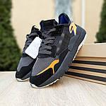 Женские кроссовки Adidas Nite Jogger (черно-оранжевые) 2954, фото 8