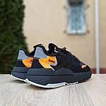 Женские кроссовки Adidas Nite Jogger (черно-оранжевые) 2954, фото 9