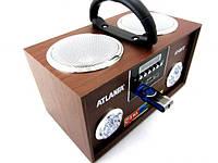 Портативная колонка (Portable speakers) Atlanfa At-8972 Светодиодный дисплей Пульт ДУ Li-ion аккумулятор