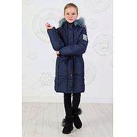 Куртка стильная детская зимняя удлиненная для девочки 128-152 в цветах