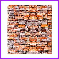 3д панель стеновой декоративный Кирпич Песчаник (песок самоклеющиеся 3d панели для стен оригинал) 700x770x7 мм