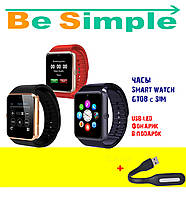 Умные часы Smart watch GT08 с SIM,  USB-LED фонарик в ПОДАРОК