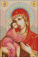 """Канва с рисунком """"Пресвятая Богородица Феодоровская"""""""