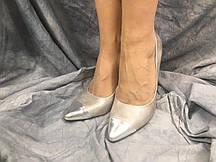 Туфлі жіночі 228-1 срібло 41