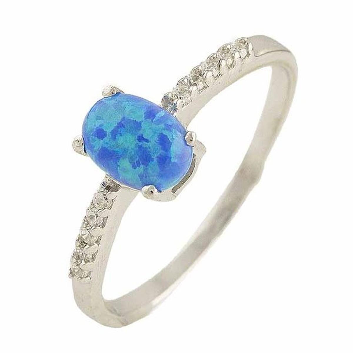 Серебряное кольцо SilverAlex с опалом (0566238) 18.5 размер