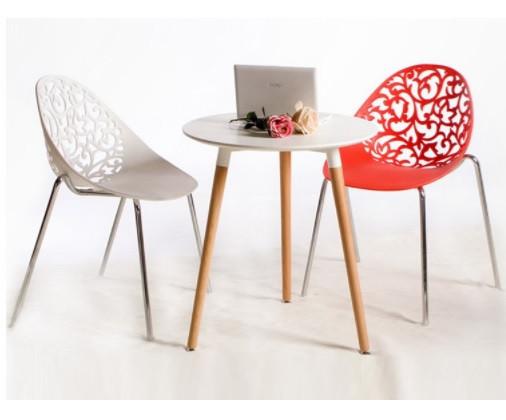 Штабелируемый стул Миа, пластиковый, цвет белый
