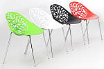 Штабелируемый стул Миа, пластиковый, цвет белый, фото 3