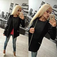 Стильное черное женское пальто Redd v-310217