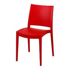 Стілець Спектрум, пластиковий, колір червоний, штабельований. Стільці для кафе і барів