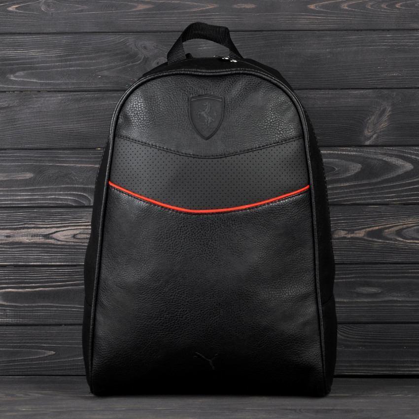 Стильный повседневный городской рюкзак Puma Ferrari, пума. Черный