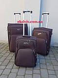 100% polyester FLY 8049 на 2-х.кол. валізи чемоданы сумки на колесах, фото 2