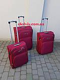 100% polyester FLY 8049 на 2-х.кол. валізи чемоданы сумки на колесах, фото 3