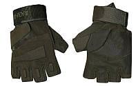 Перчатки тактические BLACKHAWK BC-4380-G (PL, открытые пальцы, р-р L-XL, темно-зеленый)