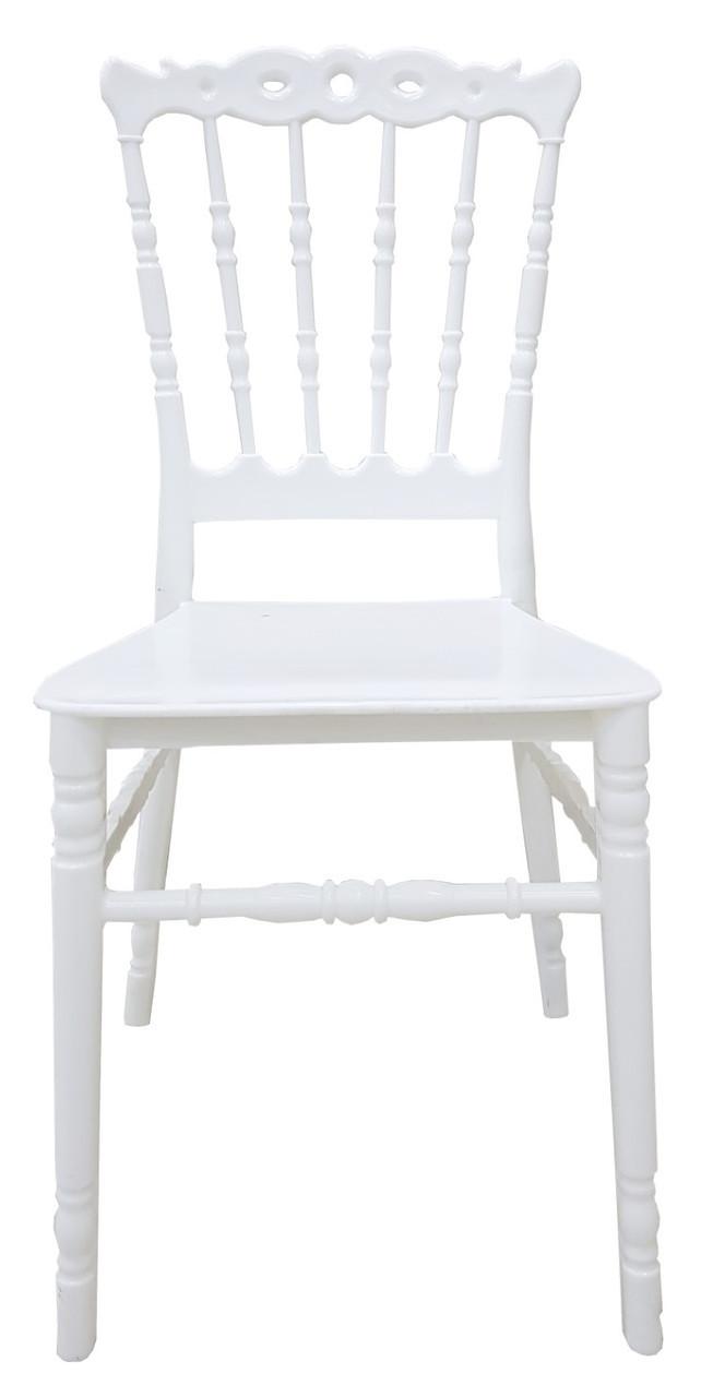 Штабелируемый стул Донна, пластиковый, с подушкой, цвет белый