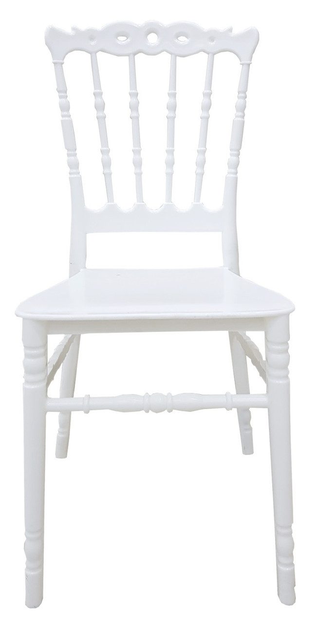Штабельований стілець Донна, пластиковий, з подушкою, колір білий