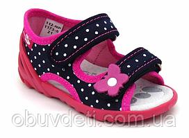 Дитячі тапочки-босоніжки Renbut для дівчинки 24 р (15,5 см)
