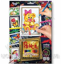 Раскраска карандашами по номерам Мишка Код: PBN-01-05 Изд: Danko Toys