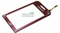 Сенсор (тач скрин) SAMSUNG S5230 La Fleur Red (оригинал)