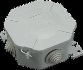 Коробка распределительная IP54 94x94x43 SEZ 6455-30 (накладная, защелки, 4 сальника PG13.5)
