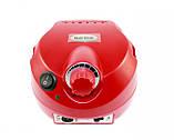 Фрезер для маникюра и педикюра DM-202 на 25000 оборотов 30 ВТ красный, фото 5
