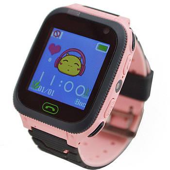 Дитячі наручні годинники Smart F3 смарт вотч годинник телефон Gps трекер Рожеві